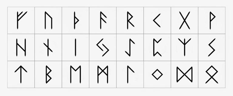 Elder Futhark tiles